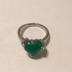 Authentic Jade Carved Heart ring